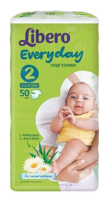 67baac3b92d7 Подгузники Libero Everyday Mini 2 (50 шт), купить в Минске в  интернет-магазине   Bigi.by