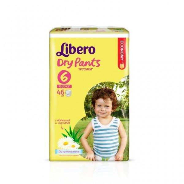 281fa6bfef9a Подгузники Libero Dry Pants 6 (13-20 кг) 46 шт, купить в Минске в  интернет-магазине   Bigi.by